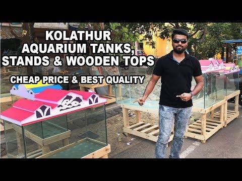 KOLATHUR - AQUARIUM TANKS,STANDS & WOODEN TOPS -BEST PRICE- Ornamental Fish Aquarium & Pets
