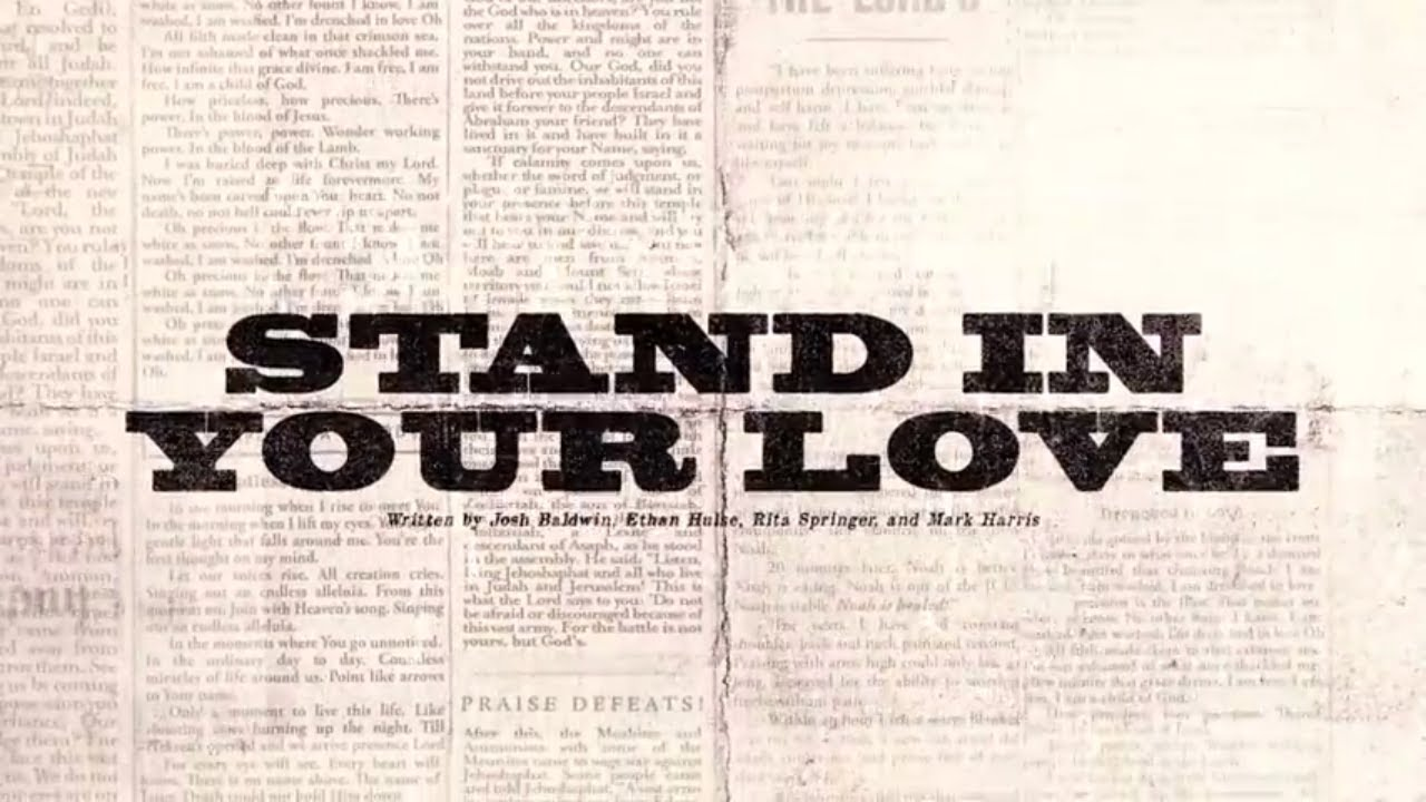 Stand In Your Love (Official Lyric Video) - Bethel Music | VICTORY