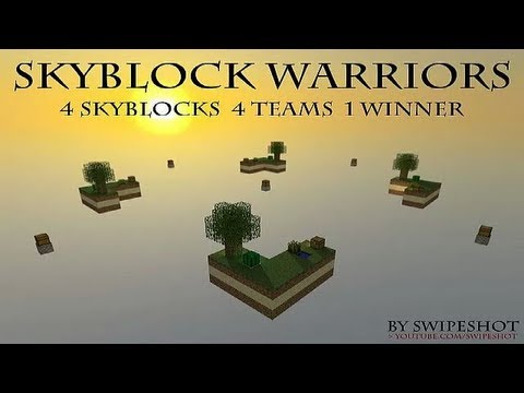 Minecraft - Skyblock Warriors Map Presentation and Download