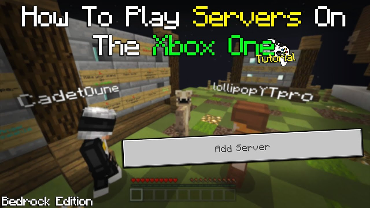 How to Play on Dedicated SERVERS on The Xbox One Bedrock Edition