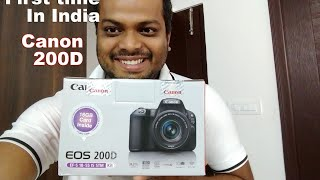 Unboxing Canon EOS 200D in India - Rebel SL2