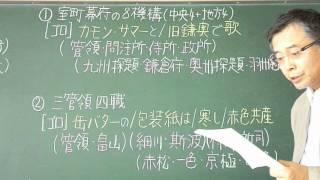語呂合わせ日本史〈ゴロテマ〉40(中世12/室町機構)