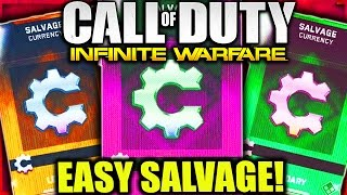 HOW TO GET SALVAGE FAST and EASY INFINITE WARFARE! GET MORE SUPPLY DROPS and SALVAGE POINTS COD IW!