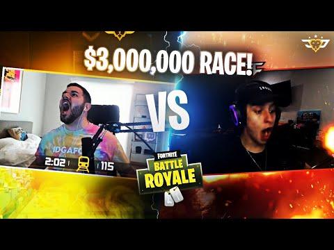 CIZZORZ VS COURAGE RACE ON HIS $3,000,000 DEATHRUN MAP! (Fortnite: Battle Royale)