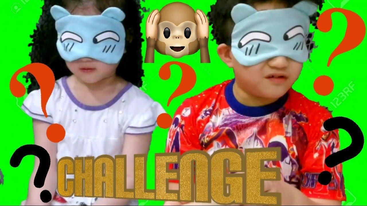 Blind Guessing Game Challenge 抖音很多人玩 蒙眼摸物 触感游戏 猜猜看 亲子互动