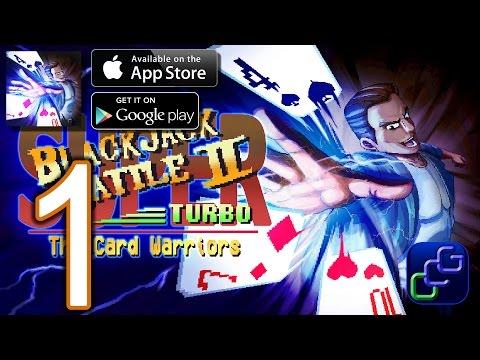 Super Blackjack Battle 2 Turbo Edition - The Card Warriors iOS Walkthrough - Part 1 - Single Player