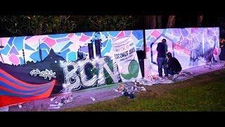 Autotask Community Live 2013 Barcelona - Graffiti Wall Time Lapse
