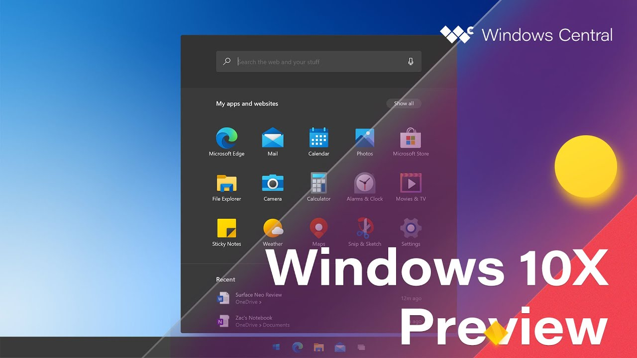 Microsoft выпустила первую версию Windows 10X для двойных экранов: новый дизайн, отсутствие окон и другие детали — Сервисы на vc.ru