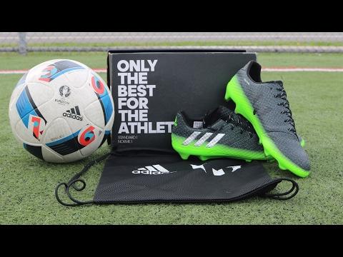 UNBOXING & On Foot Test! Adidas Messi 16.1 FG Dark Grey/Silver Metallic/Solar Green