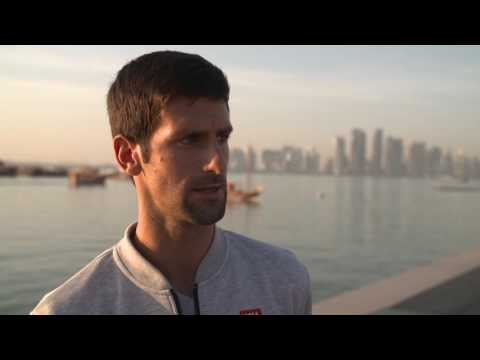 Murray Djokovic Launch 2017 ATP World Tour Season In Doha