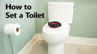 How to Set and Install A Toilet - Quick and Easy