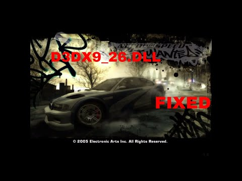 HOW TO FIX D3dx9_26.dll ERRORS In  NFS MOST WANTED
