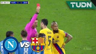 Gambar cover ¡Tarjeta Roja! Vidal es expulsado | Napoli 1 - 1 Barcelona | Champions League - 8vos Ida | TUDN