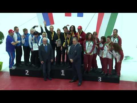 2nd European Deaf Curling Championships - Closing Ceremony with medals (Women & Men)
