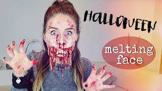Melting Face HALLOWEEN Make Up 👻 ( Schmelzendes Gesicht ) | BibisBeautyPalace