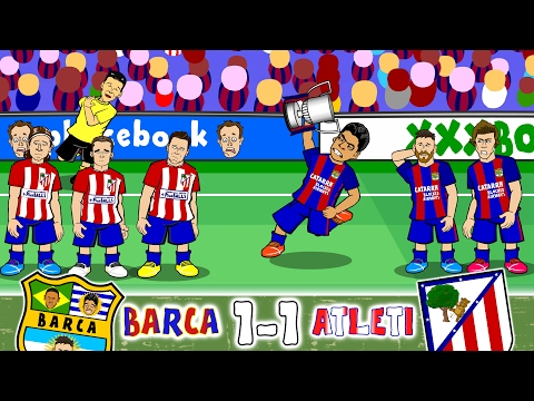 Barcelona vs Atletico Madrid 1-1 (Goals, Highlights, Red Cards +more!)(Copa Del Rey 2017 Semi-Final(