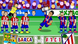 Barcelona vs Atletico Madrid 1-1 (Goals, Highlights, Red Cards +more!)(Copa Del Rey 2017 Semi-Final)