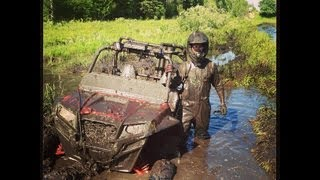 Polaris Ranger on tracks, RZR and Can Am Commanders in some serious mud! PowerModz!