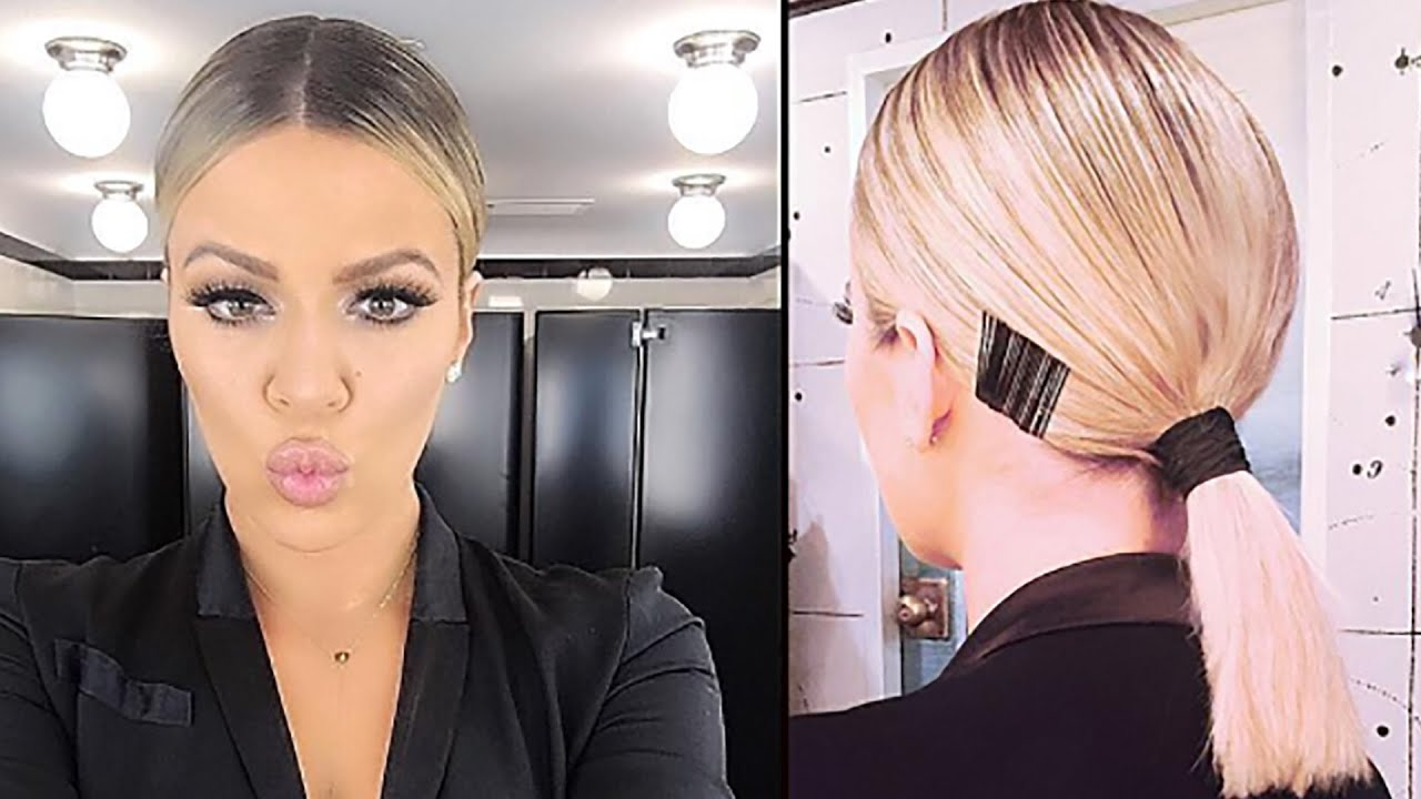 khloe kardashian new hair style how to recreate khloe s new hairstyle 2740 | maxresdefault
