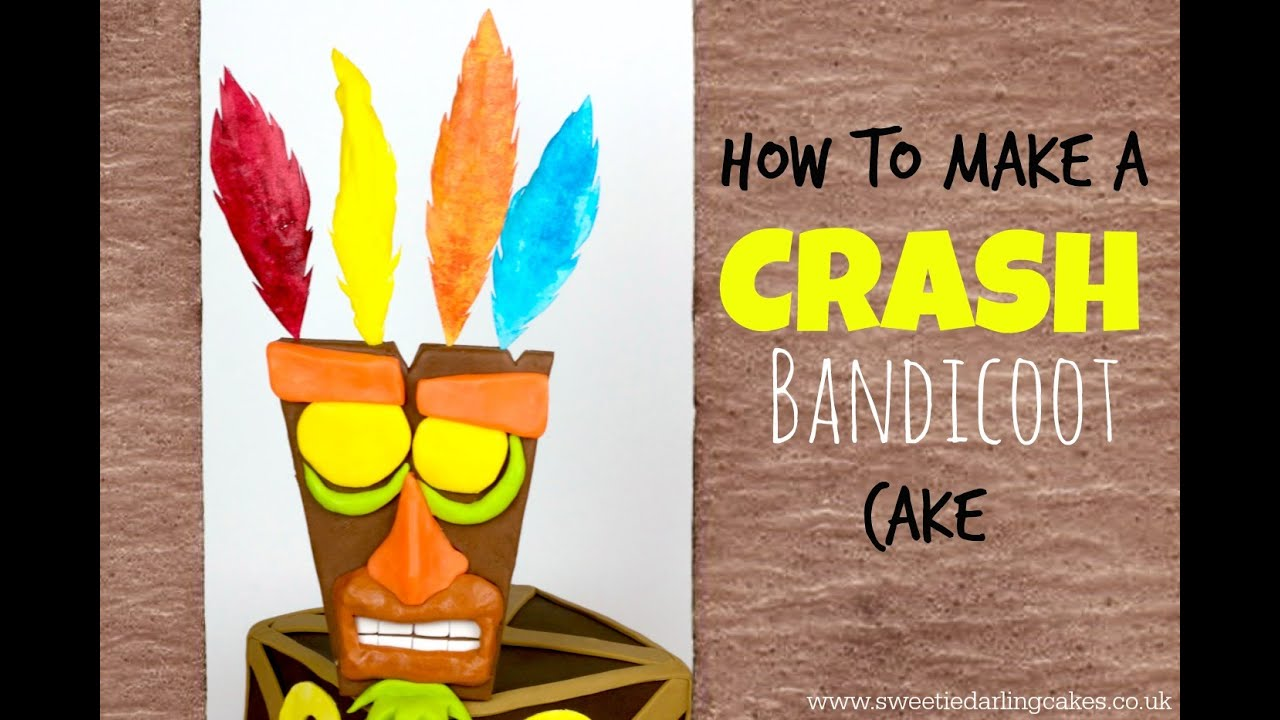 Crash Bandicoot Cake Tutorial Youtube