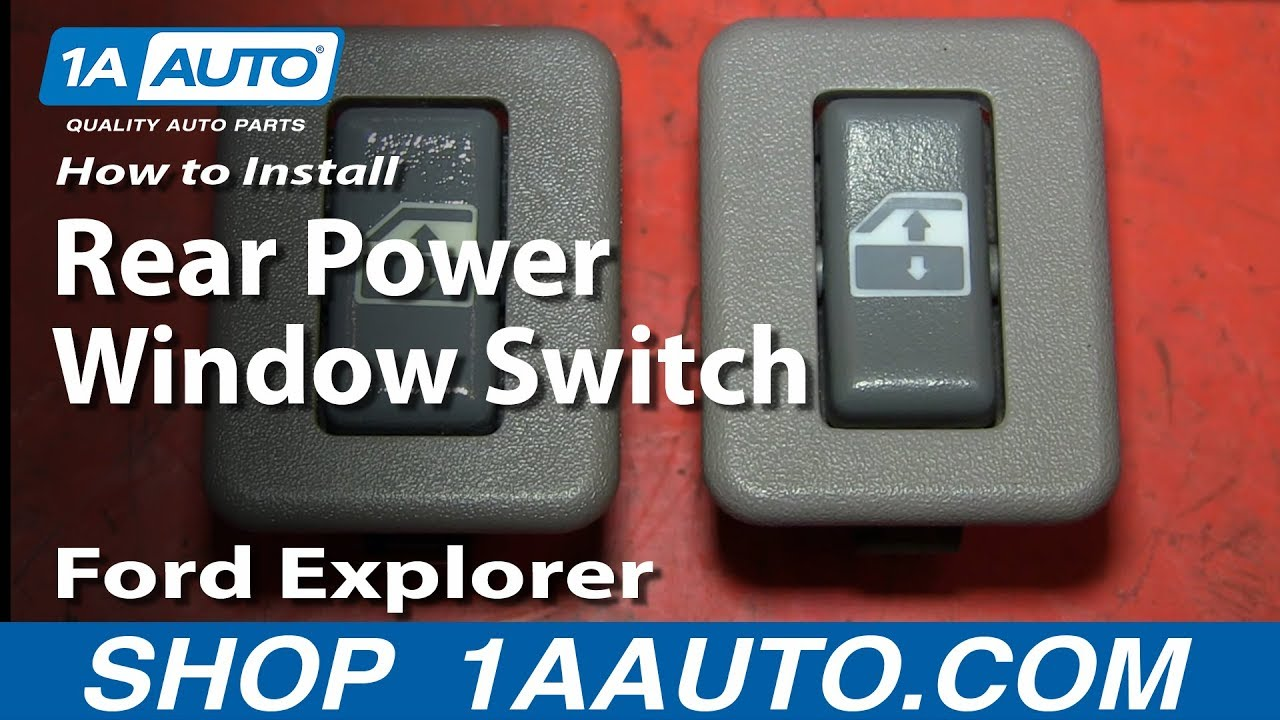 how to install replace rear power window switch 2002 05 ford explorer mercury mountaineer [ 1280 x 720 Pixel ]