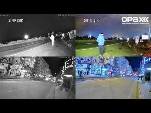 Sıfır Işık'ta OPAX Starlight ve Standart IP Kameraların Gece Görüntüsü Karşılaştırması
