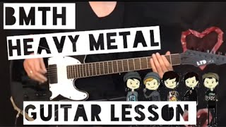 Bring Me The Horizon - Heavy Metal (GUITAR LESSON NEW SONG 2019)