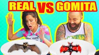 Comida de GOMA vs REAL! COMER MURCIÉLAGOS, SANGRE, LAGARTIJAS...OH NO! HALLOWEEN con SandraCiresArt