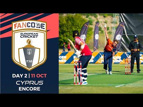 🔴 FanCode European Cricket T10 Cyprus Encore, 2021 | Day 2 |  T10 Live Cricket