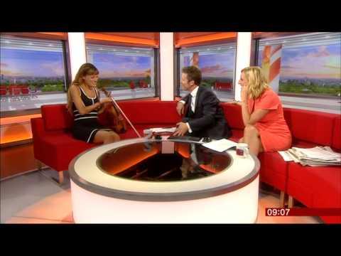 STEPH McGOVERN:--: BBC  Breakfast - 28 Aug. 2015 - Nicola Benedetti