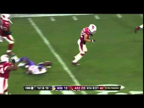 Honey Badger Don't Care! Tyrann Mathieu Takes Down Peterson! | Vikings vs. Cardinals | NFL