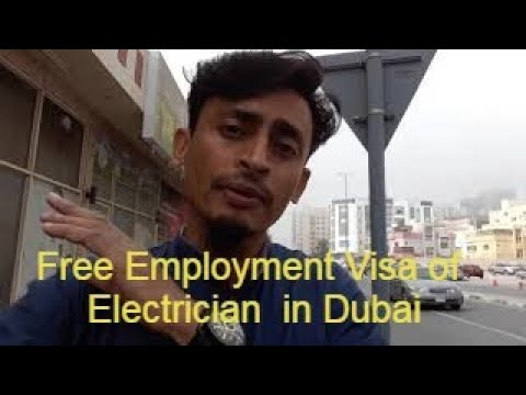 Free Employment Visa of Dubai for electrician