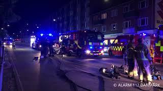 09.06.2018 Voldsom brand i flere lejligheder og tag, København