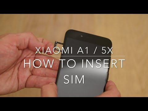 Xiaomi Mi A1 / 5X how to insert SIM
