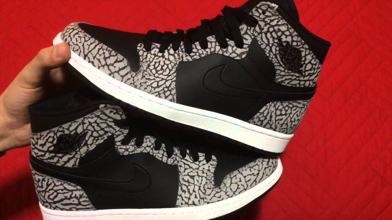 2d3ea4be3c6 Air Jordan 1 High BLACK CEMENT/UN-SUPREME - YouTube