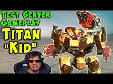 "OMG! New Titan ""KID"" Gameplay - War Robots Test Server WR"
