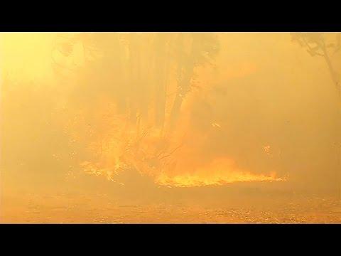 Un incendio consume parte de Valparaiso