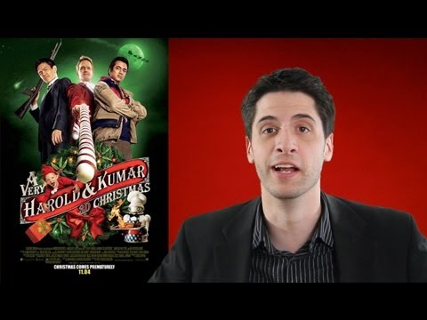 A Very Harold and Kumar 3D Christmas movie review poster