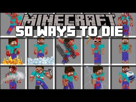Minecraft 50 WAYS TO DIE MOD / CLONE YOURSELF AND DIE IN MANY DIFFERENT WAYS!! Minecraft