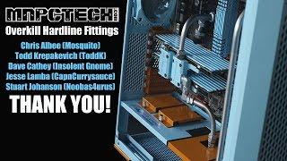 Mnpctech Stainless Hard line Tube Fittings for Custom PC Build Setup
