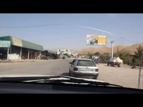 Leaving Kuljab by taxi to Khorog with Russian pop musik from the radio...