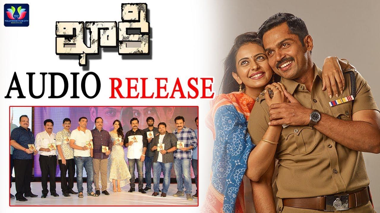 Karthi's Khakee Audio Launch || Telugu Full Scr