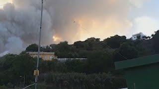 Los medios aéreos se suman al incendio de Gran Canaria