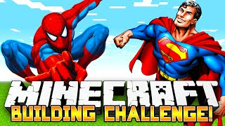 Minecraft Build Challenge - SUPER HEROES! (Funny Building Game) - w/Preston & Friends!