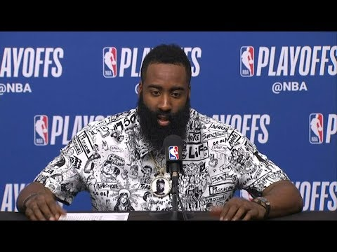 James Harden Postgame Interview - Game 5 | Jazz vs Rockets | 2019 NBA Playoffs