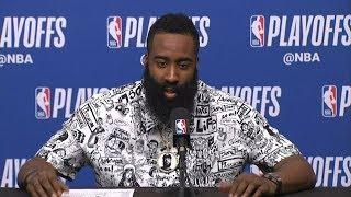 James Harden Postgame Interview - Game 5 | Jazz vs Rockets | 2019 NBA Playoffs