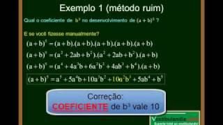Matemática - Aula 29 - Binômio de Newton - Parte 5
