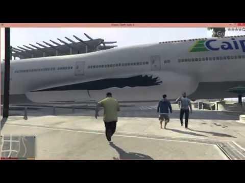 GTA 5 Air Plane Hijack and Massive Crash on Land