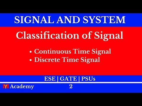 Classification of Signal | Signal and System