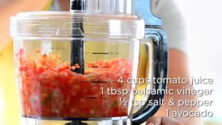 Chilled Garden Gazpacho Soup Recipe